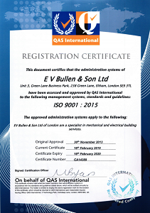 Our ISO 9001 Certificate